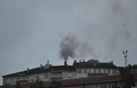 Afyon'da havayı kirleten 11 apartman hakında tutanak tutuldu!