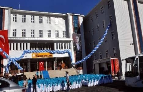 Bitlis'te Ziya Eren Spor Lisesi'nin açılışı yapıldı!