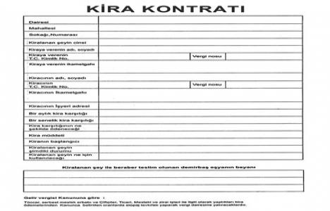 Kira kontratı geçerlilik