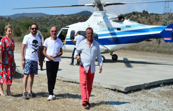 Ali Ağaoğlu'ndan helikopterli