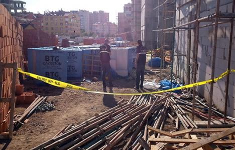 Konya'da inşaattan düşen