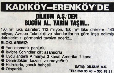 1989 yılında Erenköy'de
