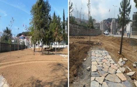 Gölcük Donanma Komutanlığı arazisinde çevre düzenleme çalışmaları başladı!