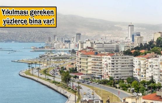İzmir'deki yapılar alarm veriyor!