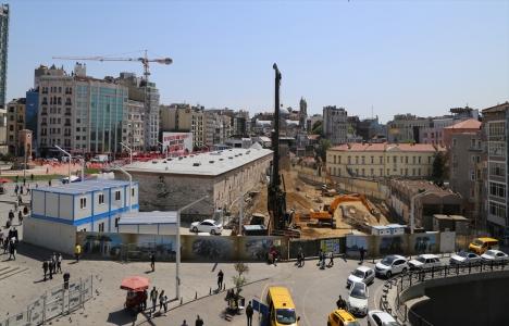 Taksim Camii inşaatı