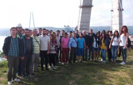 Amasya Üniversitesi Harita Kadastro öğrencileri 3. köprü inşaatını gezdi!