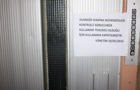 İstanbul'daki asansörlerin yüzde 89'unun kullanımı sakıncalı!