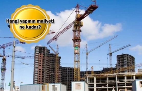 2018 yılı yapı yaklaşık birim maliyetleri belli oldu!