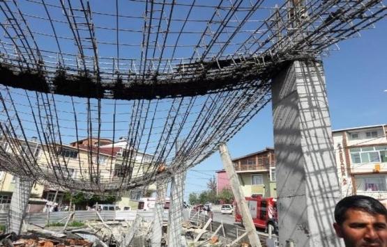 Arnavutköy'de beton dökülen
