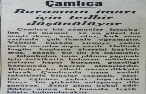 1933 yılında Çamlıca