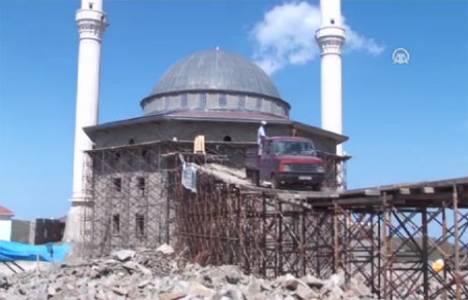 Karadeniz usulü cami inşaatı!
