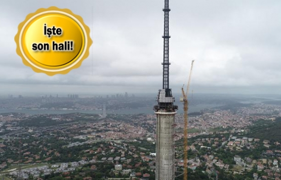 Çamlıca Kulesi 365 metre yüksekliğiyle Eyfel'i geçti!