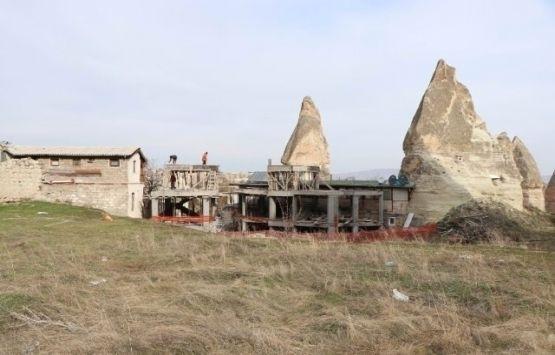 Göreme'deki otel inşaatının yıkımına başlandı!