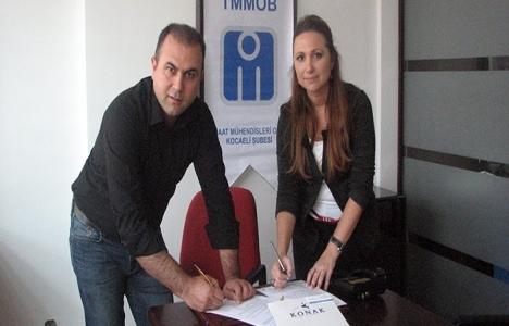 Kocaeli İnşaat Mühendisleri Odası ve Özel Konak Hastanesi protokol imzaladı!