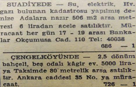 1948 yılında Suadiye'de metrekaresi 6 liraya arsa satılacakmış!