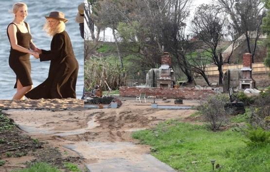Kim Basinger'in Malibu'daki evinden geriye sadece yıkıntılar kaldı!