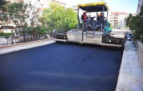 Bursa Siteler bölgesinde yollar asfaltlandı!