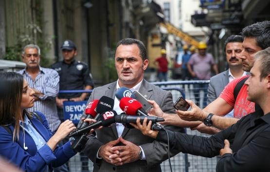 Beyoğlu'nda çökme tehlikesi olan binaya yıkım kararı!