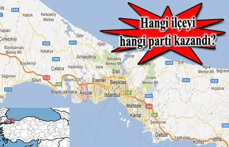 İstanbul ilçeleri seçim sonuçları 2014!