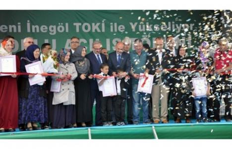 İnegöl'de 1.930 TOKİ konutu hizmete açıldı!