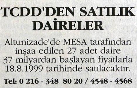 1999 yılında TCDD'den