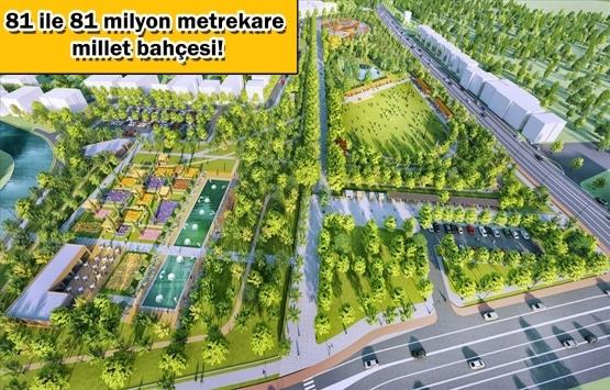 İşte şehirlere nefes aldıracak millet bahçeleri!
