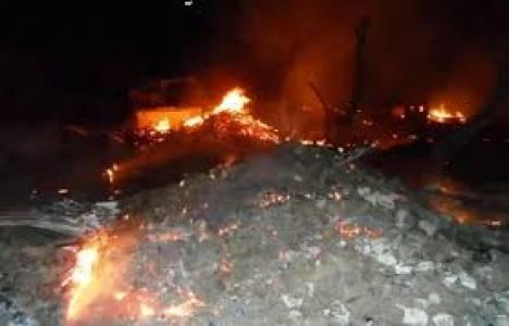 Sinop'ta çıkan yangında 33 ev küle döndü!