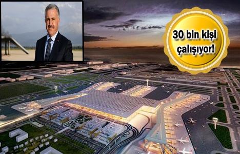 3. Havalimanı inşaatının yüzde 57'si tamamlandı!