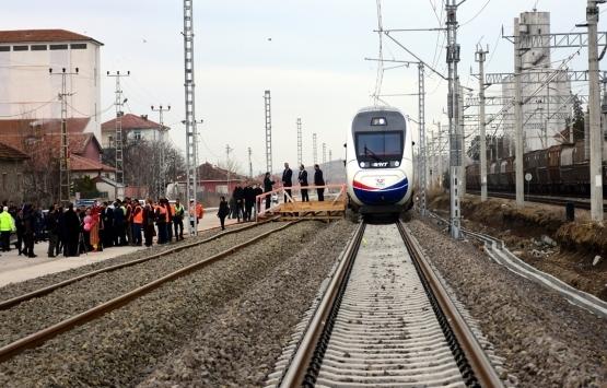 Ankara-Sivas Yüksek Hızlı Tren hattında deneme sürüşü!