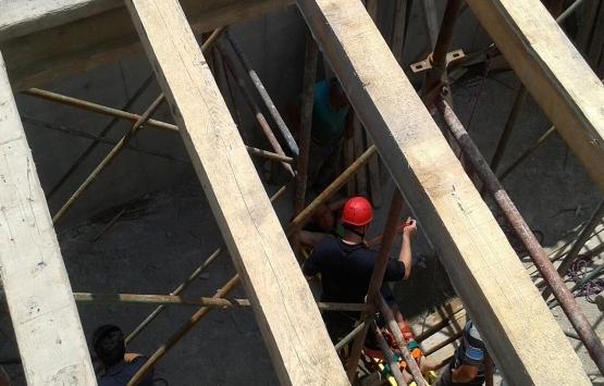 Derince'de inşaat kazası: 1 yaralı!