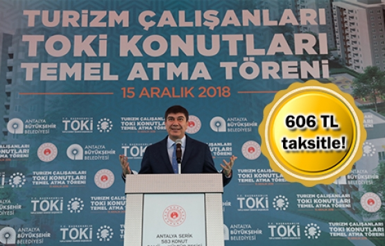 TOKİ'den turizm çalışanlarına 2 bin 200 konut!