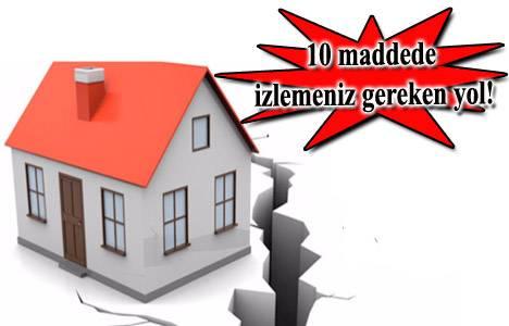 Eviniz riskli yapı