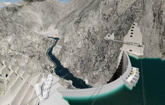 Yusufeli Barajı'nın inşaatı