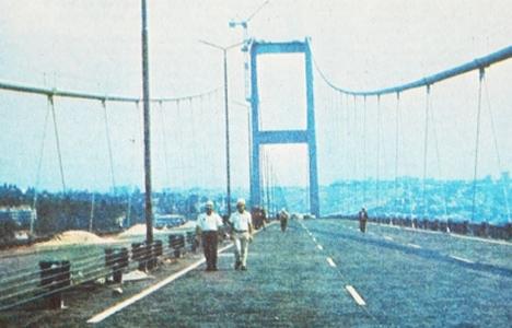 Boğaziçi Köprüsü'nün inşaatı