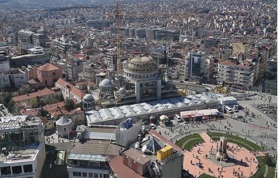 Taksim Camii'nin yüzde
