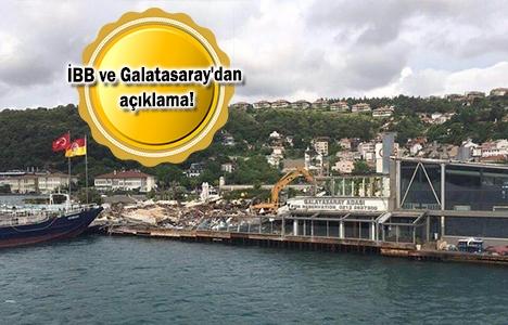 Galatasaray Adası'nın yıkımında