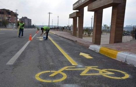 Adıyaman'da bisiklet yolu