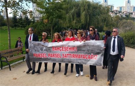 Bahçeşehir Göleti'nin satışına 2. protesto!