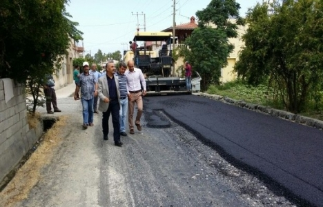 Hatay Arsuz'daki asfalt çalışmaları tamamlanıyor!