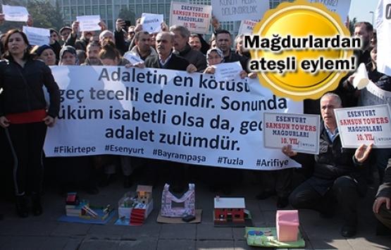 Konut mağdurları İBB önünde eylem yaptı!