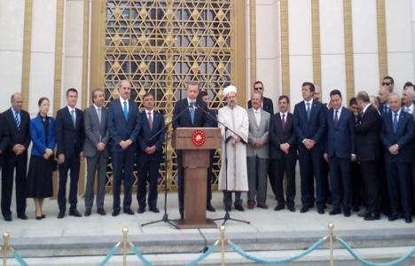 Cumhurbaşkanlığı Sarayı'ndaki Beştepe Millet Camii açıldı!