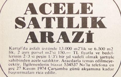 1974 yılında Kartal'da