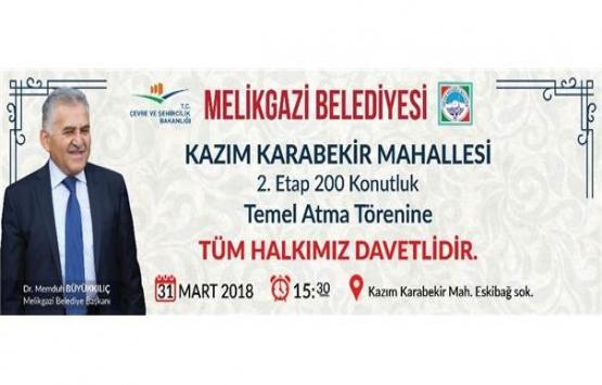 Kayseri'de 200 konutluk
