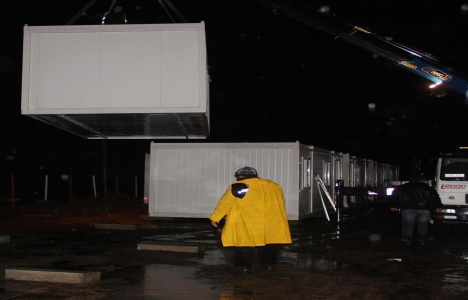 Çanakkale Ayvacık'ta konteyner
