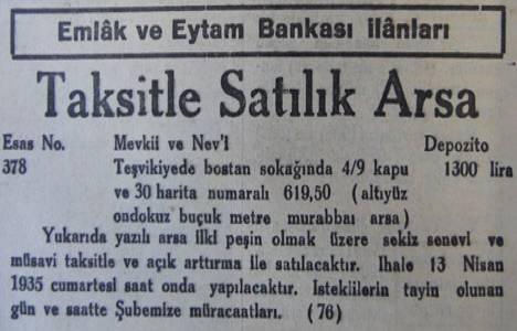 1935 yılında Teşvikiye'de