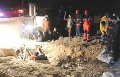 Sancaktepe'de bir fabrika inşaatında toprak kayması meydana geldi!