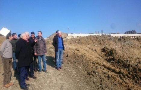Lapseki'de katı atık tesisi inşaat çalışmaları sürüyor!