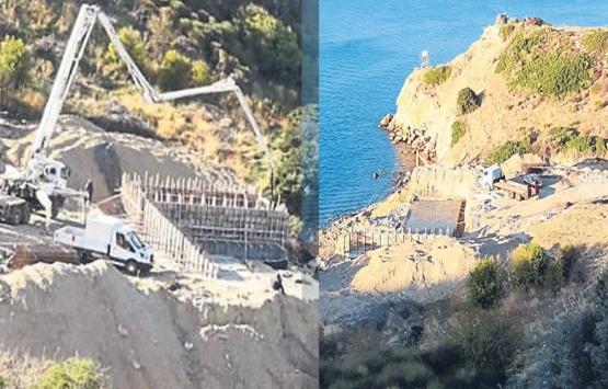 İzmir Karaburun'da inşaat