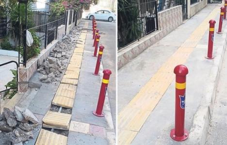 İzmir Konak'ın kaldırımları yenileniyor!