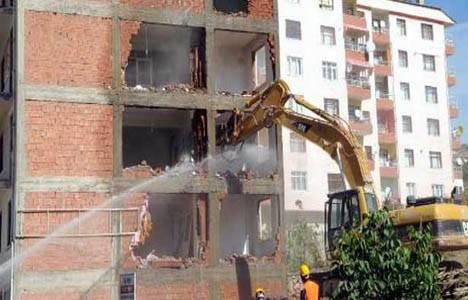 Tokat'ta kentsel dönüşüm kapsamında 40 konut yıkıldı!